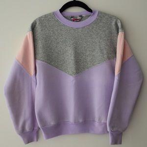 Vintage Longstreet Pullover Sweatshirt Colorblock
